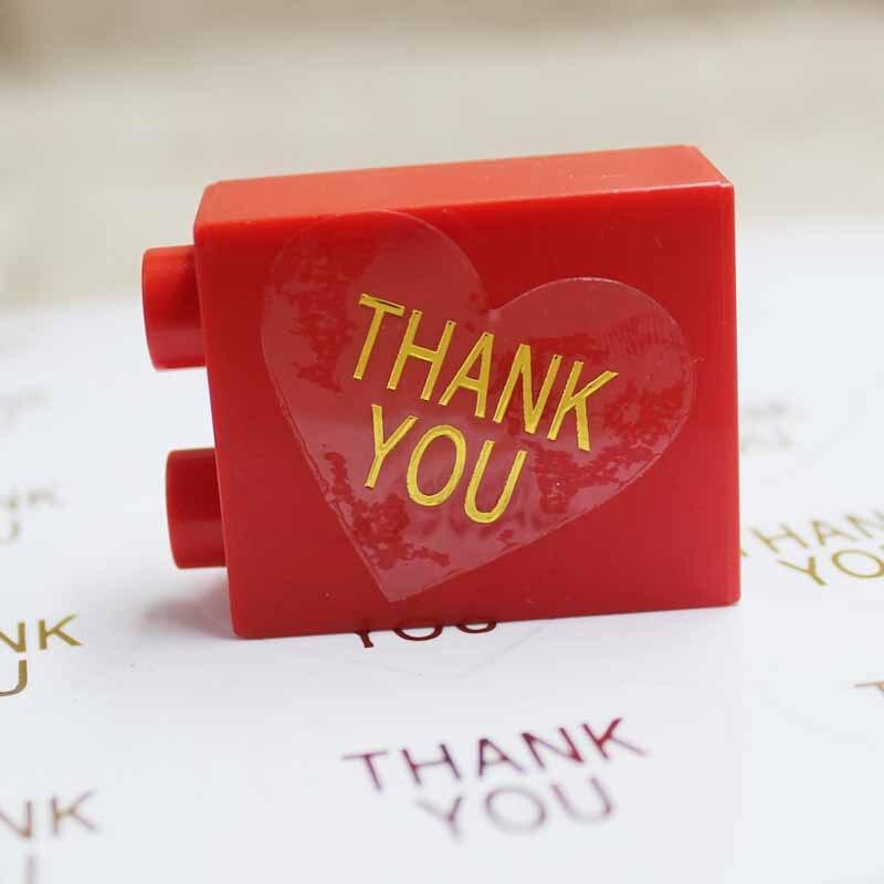 Zerong200pc, etiquetas autoadhesivas transparentes DIY con forma de corazón, etiquetas autoadhesivas de papel dorado hechas a mano para boda/Decoración de galletas
