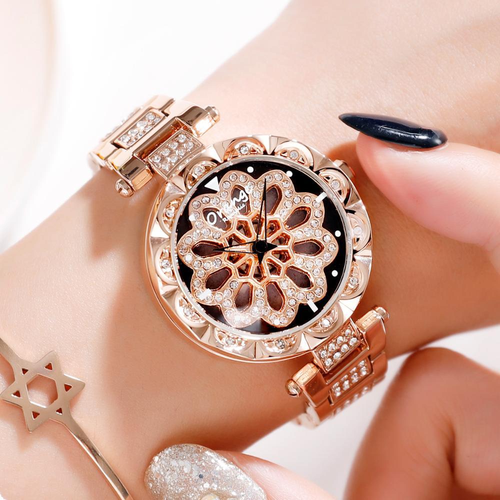 Reloj de pulsera de cuarzo MIYOTA de moda de lujo para Mujer, Reloj de pulsera de acero inoxidable, vestido de banda resistente al agua, Mujer