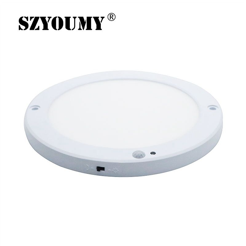 18 Вт Светодиодная панель потолочный светильник светодиодный датчик потолочный светильник 110 В 220 В инфракрасный детектор человеческого тел...