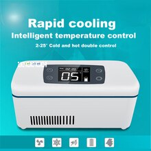 Fonctionnement externe Mini réfrigérateur Portable sang insuline vaccin interféron refroidisseur boîte médicament réfrigéré Portable boîte de stockage à froid