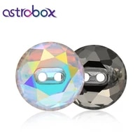 astrobox 5pcs 12mm k9 glass type round rhinestones crystal buttons fabric decorating apparel sewing buckle accessory