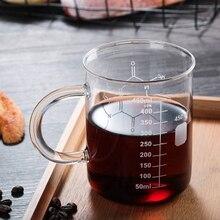 Tasses Double paroi tasse 450Ml verre tasse réceptacle tasse tasse à café isolation thermique haute Borosilicate échelle tasse Drinkware