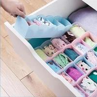 5 compartment socks underwear bra tie drawer storage box clothes organizer case