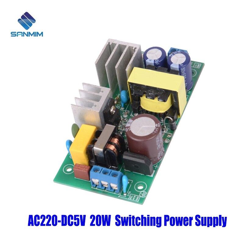 SANMIN AC220V-DC5V 4A 20W fuente de alimentación aislado interruptor fuente de alimentación módulo 220 a 5v placa de circuito impreso GPN30E5V