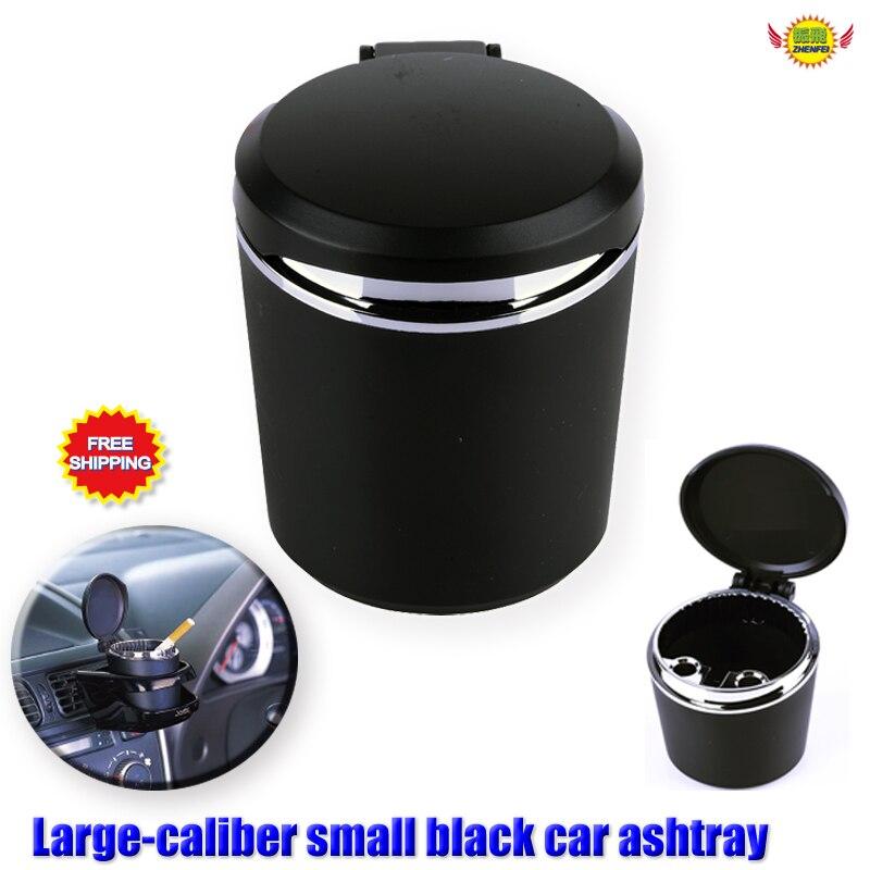 Cinzeiro de carro titular copo acessórios do carro estilo universal portátil lager-calibre alta chama retardador pequeno mini cinzeiro