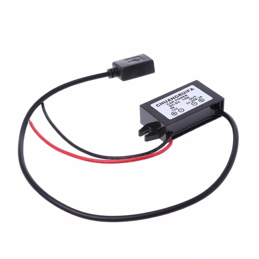 1 шт. адаптер питания на выход, модуль преобразователя постоянного тока 12 В в 5 В USB
