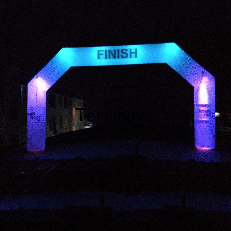 Iluminación inflable LED arcos aire soplado blighting arco forma globo arco inflable con iluminación led para decoración de fiestas