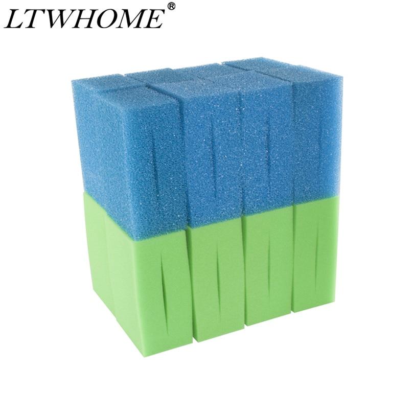 LTWHOME Oase Biotec-إسفنجة مرشح استبدال رغوة زرقاء خشنة وخضراء ناعمة 18 و 36