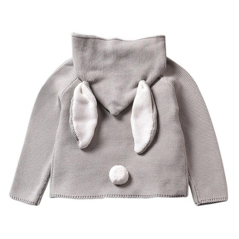 3D Rabbit Cotton Pullover Kids Knitted Sweater 1-5Y Warm Tops Winter Autumn Baby Children Sweaters Little Boys Girls