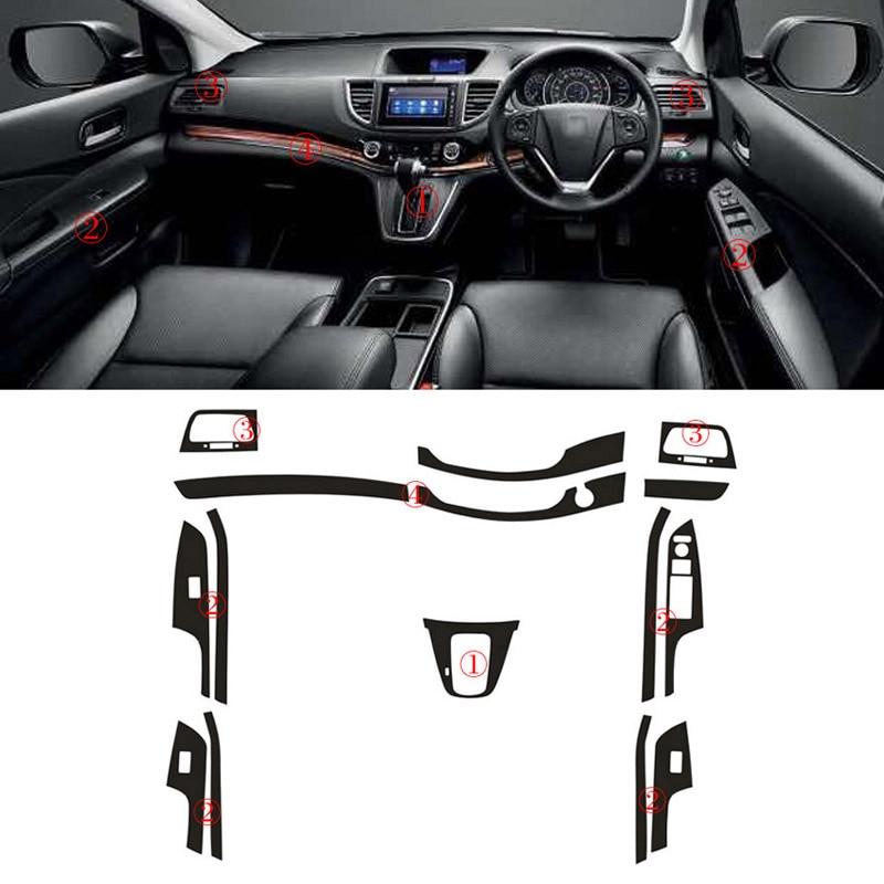 Стайлинг автомобиля 3D углеродное волокно Автомобильный интерьер центральная консоль изменение цвета молдинг наклейки для RHD Honda CRV 2012-2017