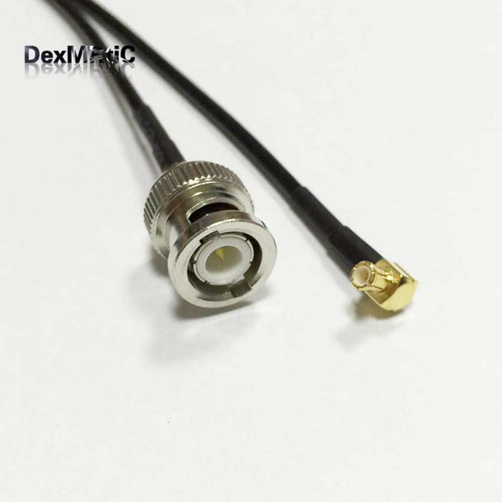 """Nuevo conector macho BNC interruptor MCX macho conector de ángulo recto Cable RG174 20CM 8 """"adaptador mayorista envío rápido"""