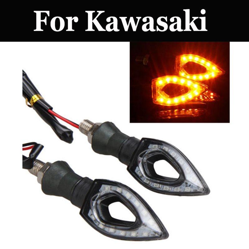 2 uds 12v señal lámpara luz LED de intermitente para Kawasaki Vn 400, 750, 800, 900, 1500, 1600, 1700, 2000