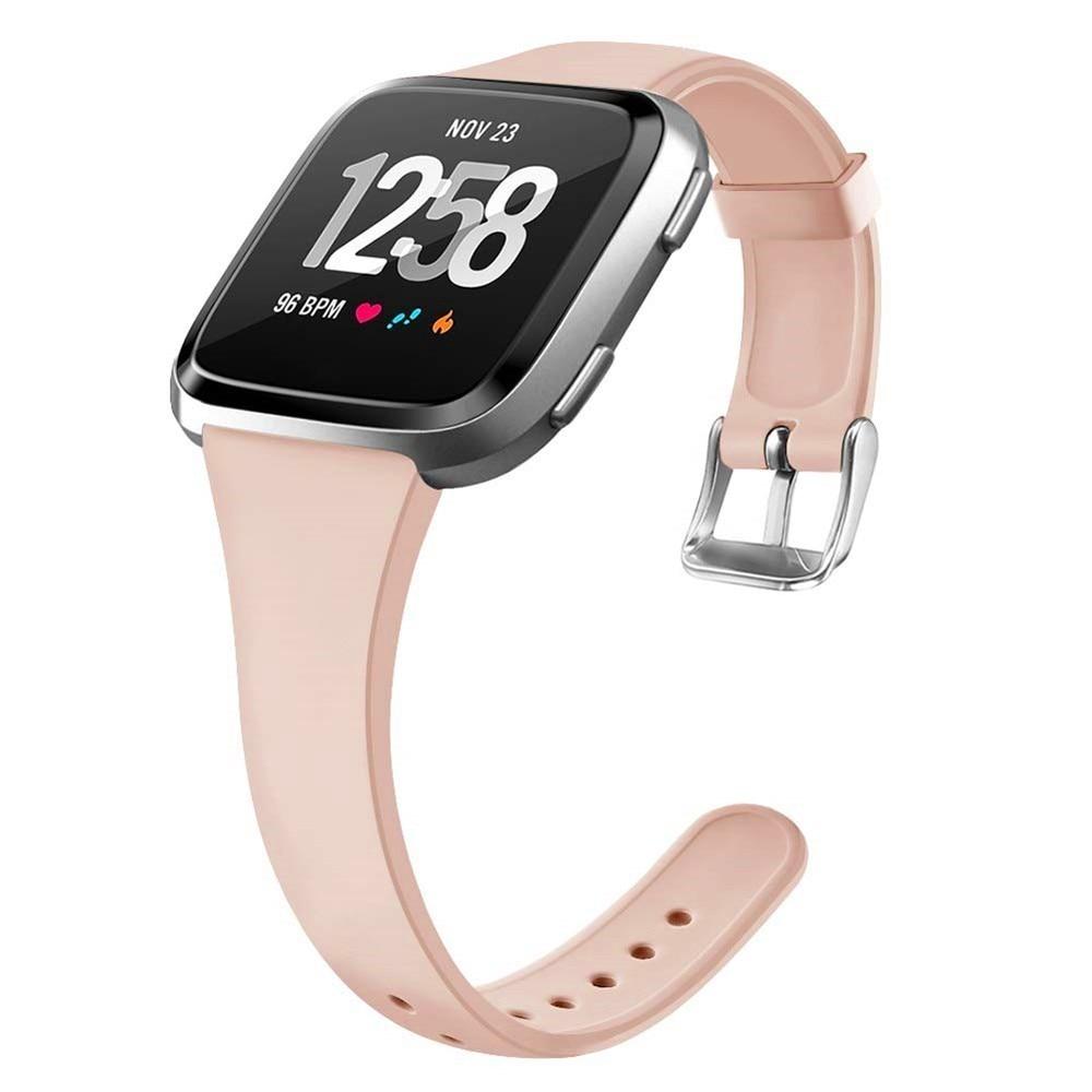 Duszake Браслет для Fitbit Versa/Versa Lite Starp мягкий силиконовый тонкий узкий сменный ремешок для Fitbit Versa для женщин и мужчин