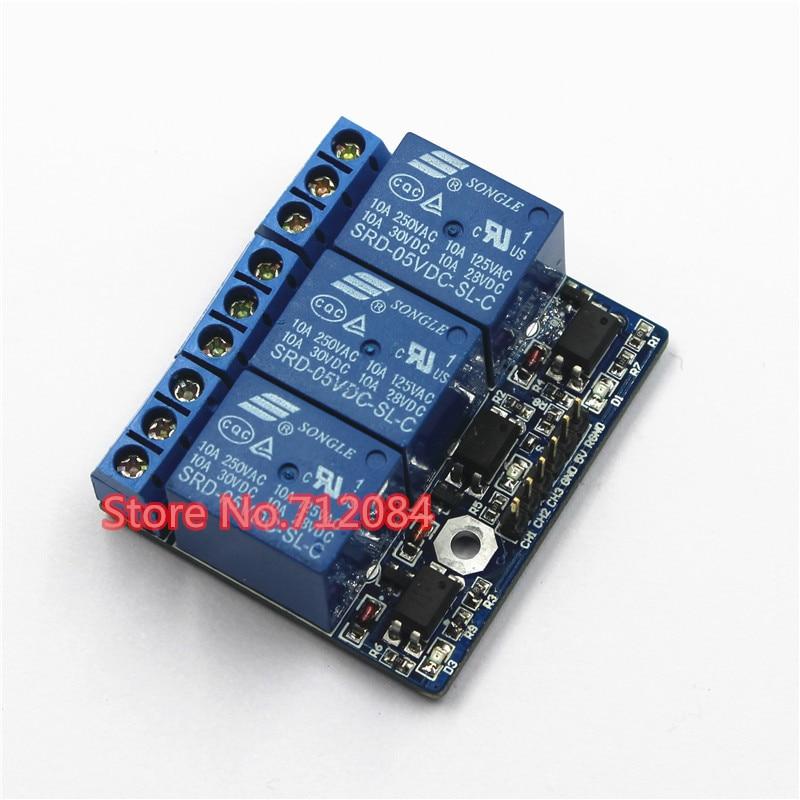 Tres módulos de relé de alta tensión de 3 canales con opto aislado, totalmente compatible con señal de 3,3 V y 5 v