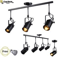 COB track light bar spotlight Ceilling adjustable hanging lamp clothing shop/window/cafe shop Exhibition E27 LED rail spot light