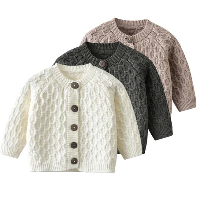 Bebé niña Retro hecho a mano suéter de punto niños suéteres de pétalo Cardigan abrigo niño bebé niño ropa de manga larga