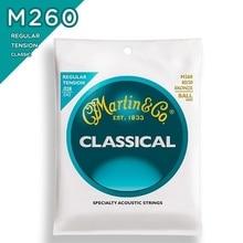 Martinguitar M260 80/20 Brons Plain-End Regelmatige Spanning Nylon Klassieke Gitaar Snaren, Ball-End
