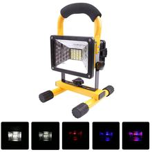 24 LED Waterproof Flood Light Outdoor Reflector LED External Projector RGB Light Spotlight Rechargeable by 3*18650 Battery 30W