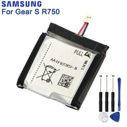 Оригинальный аккумулятор Samsung для SAMSUNG Gear S SM-R750 R750 натуральная батарея 300 мАч
