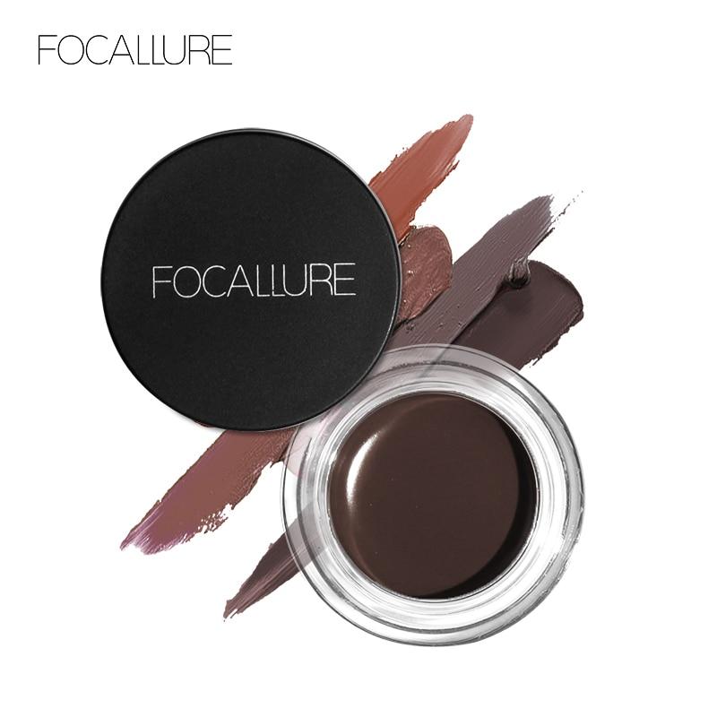FOCALLURE Eye Gel Waterproof Gel New Makeup Black Long Lasting Liquid Gel Nice Delineador Gel To Women