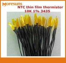 Livraison rapide 20 pièces NTC thermistance à couche mince 10K 1% 3435 0.5m 28 # capteur de température de doublage de PVC