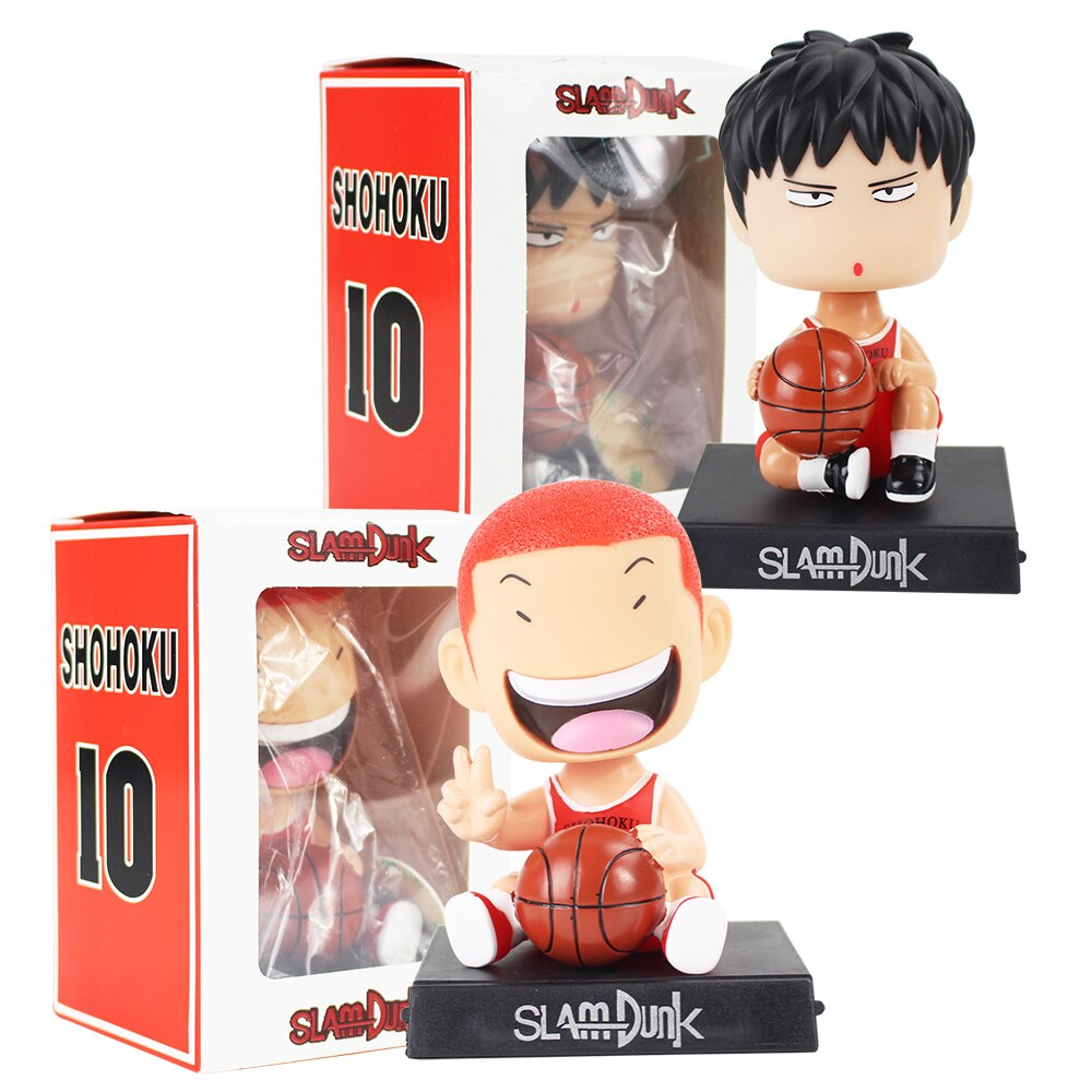 SLAM DUNK teléfono titular figuras Shohoku baloncesto Hanamichi Rukawa Kaede Sakuragi jugador Anime coche modelo de juguete decoraciones