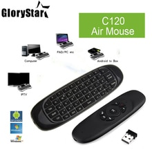 2.4 Ghz Fly Air Mouse Draadloze Toetsenbord C120 T10 gamer 3 assen gyroscoop Afstandsbediening Voor android TV Box Mac MINI PC Set-Top doos