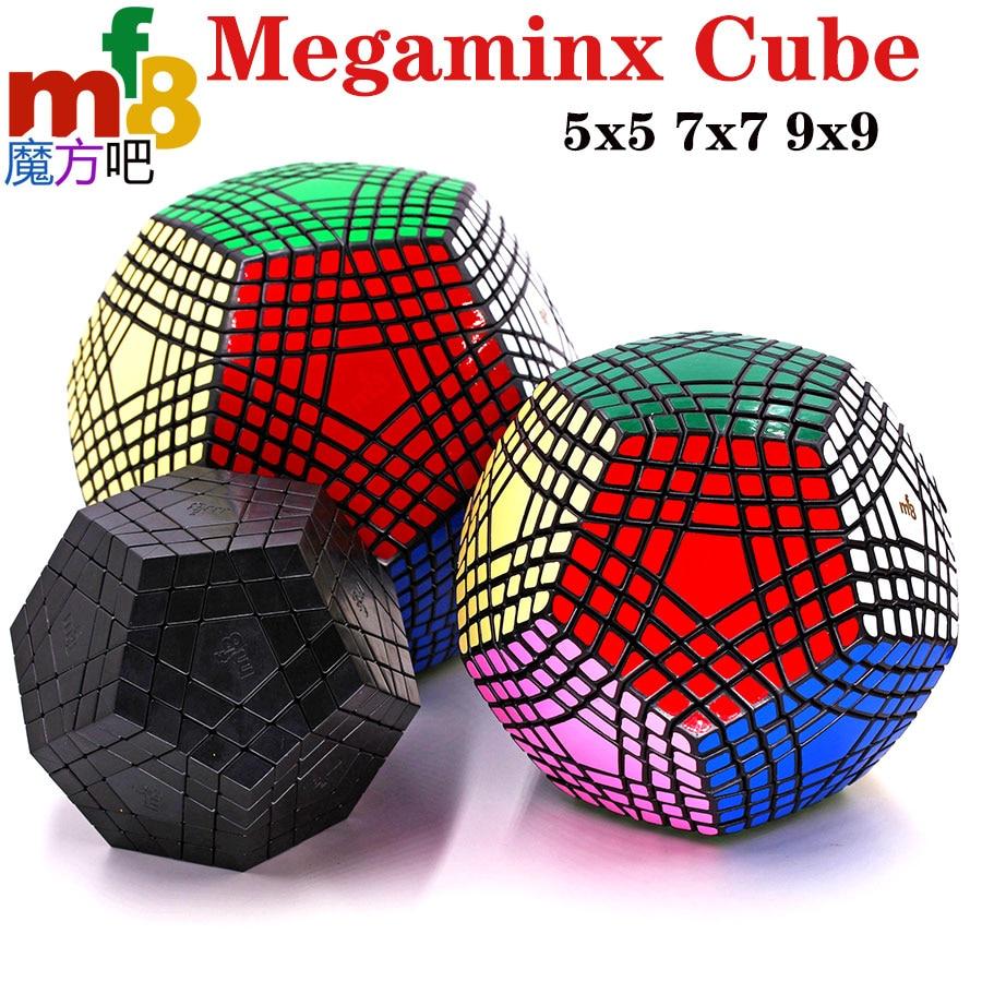 Cubo mágico quebra-cabeça mf8 megamin x megaminxeds cubo gigaminx 5x5 7x7 9x9 dodecahedron nível mestre coleção deve brinquedo profissional