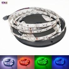 Bande de LED SMD5050 DC12V 60LED s/m 5 m/lot lumière LED Flexible RGB 5050 LED bande rouge/vert/bleu/jaune/blanc/blanc chaud bande de led