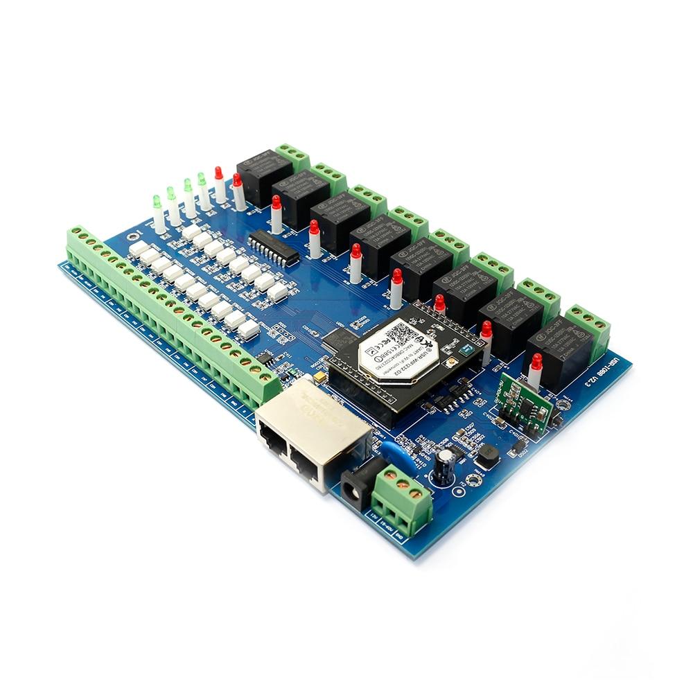 Interruptor de Control remoto USR-IO88 relé de red Wifi con 8 entradas y 8 salidas con adaptador