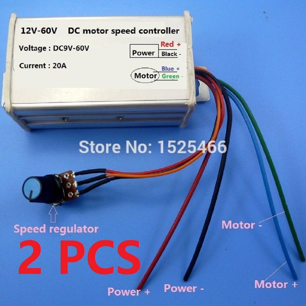 2 x TB386 * 9 60 в 20 А драйвер контроллера скорости без щеток NE555 25 кГц для Φ RS360