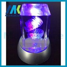 Dents cristallines artisanat clinique dentaire décoration ameublement articlesLaser gravé dent cristal verre Cube