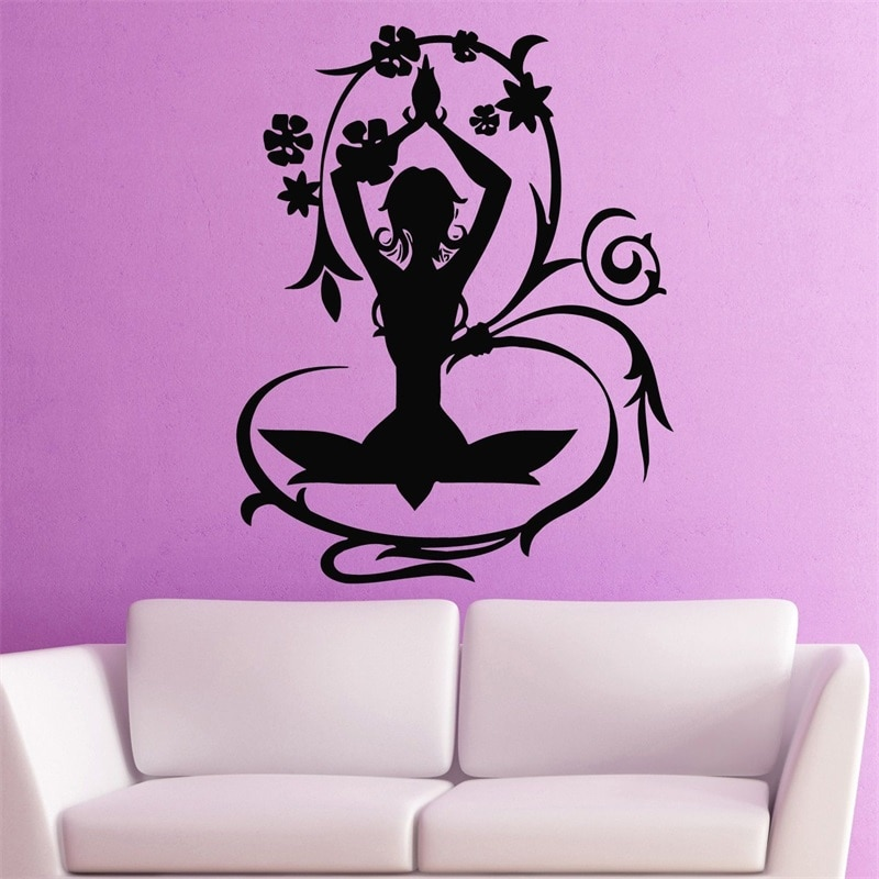 Наклейки на стену виниловая наклейка Йога позы медитация Zen Nirvana здоровье