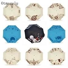 Creative Anime Manga Folding Umbrella Kids Men  Women UV Protection Sun Parasol Cute Outdoor Rainproof Wind Foldable Umbrellas