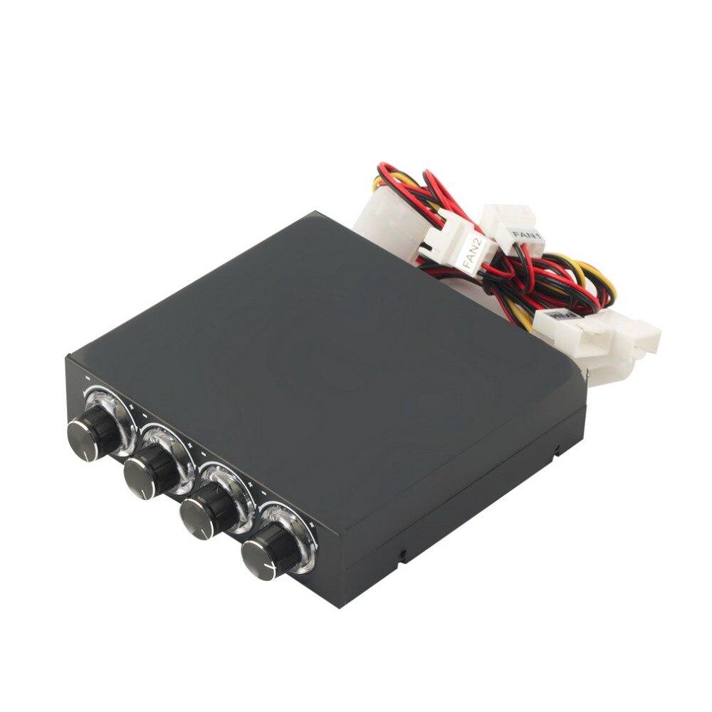 1 unidad HDD CPU de 3,5 pulgadas ventilador de 4 canales controlador de velocidad Led Panel frontal de refrigeración