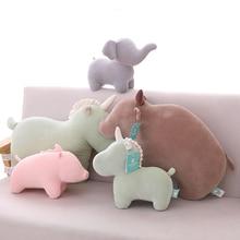 30/50cm Unicorn Elephant Pig Cattle rhinoceros Plush Reading Pillows Girls Kids Soft Stuffed Toys for Children Christmas Gifts