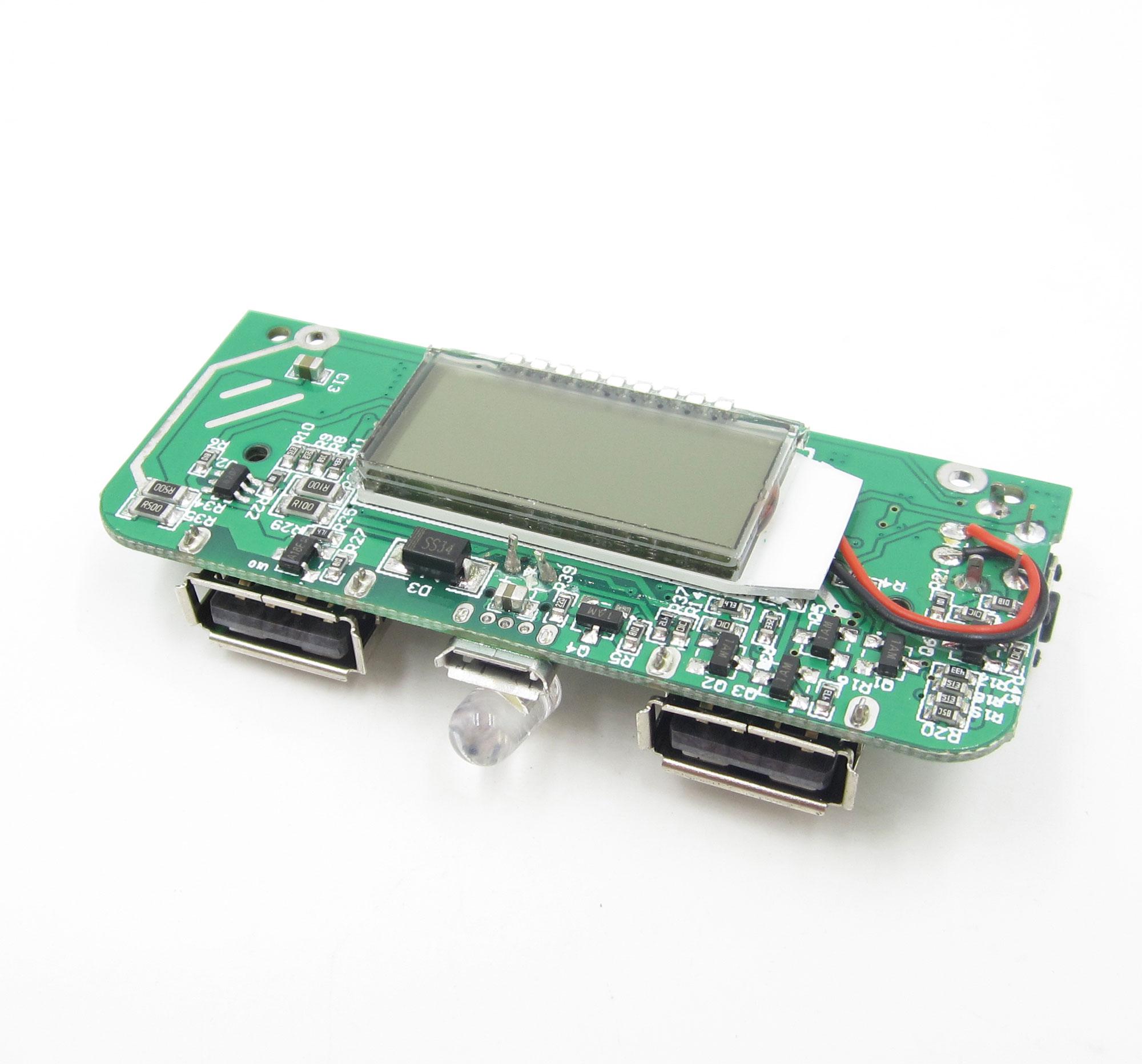 Para teléfono DIY Dual USB 5V 1A 2.1A banco de energía móvil 18650 cargador de batería PCB