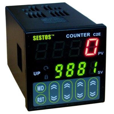 Sestos Digitale Preset Schaal Counter Tact Switch Register 12-24V CE C2S-R-24