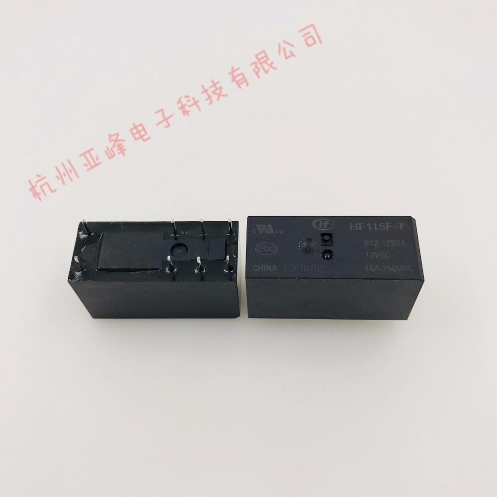 100% Original Novo HF HF115F-T-012-1ZS3A JQX-115F-T-012-1ZS3A 8 PINOS 16A 12VDC Relé de Potência