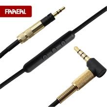 Câble Audio de remplacement pour Sennheiser élan 2.0 sur loreille sur les écouteurs doreille cordons de câble plaqués argent avec micro