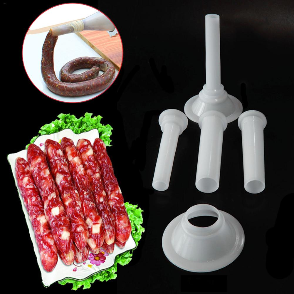 3pcs/set Meat Grinder Sausage Stuffer Filling Tubes Sausage Maker Tubes DIY Sausage Maker Funnels Nozzles Kitchen Meat Tools