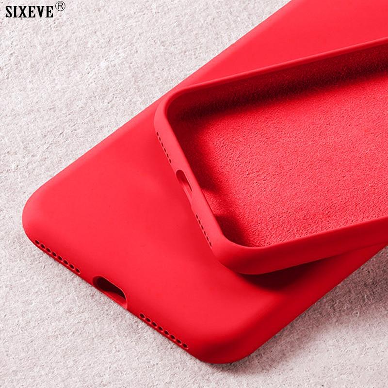 Funda de silicona líquida de lujo para Samsung Galaxy S8 S9 S10 Plus S10e e Note 8 9, carcasa trasera blanda para teléfono móvil a prueba de golpes Etui