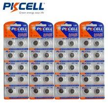 40 uds/4 tarjetas PKCELL 1,5 V AG9 batería LR936 394 SR936SW LR45 botón pila de moneda baterías alcalinas