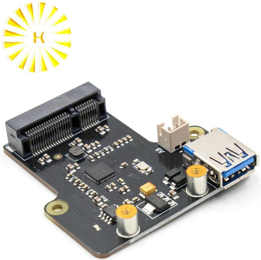 التوت بي X850 mSATA SSD القرص لوح تمديد يدعم 1 تيرا بايت USB 3.0 موصل