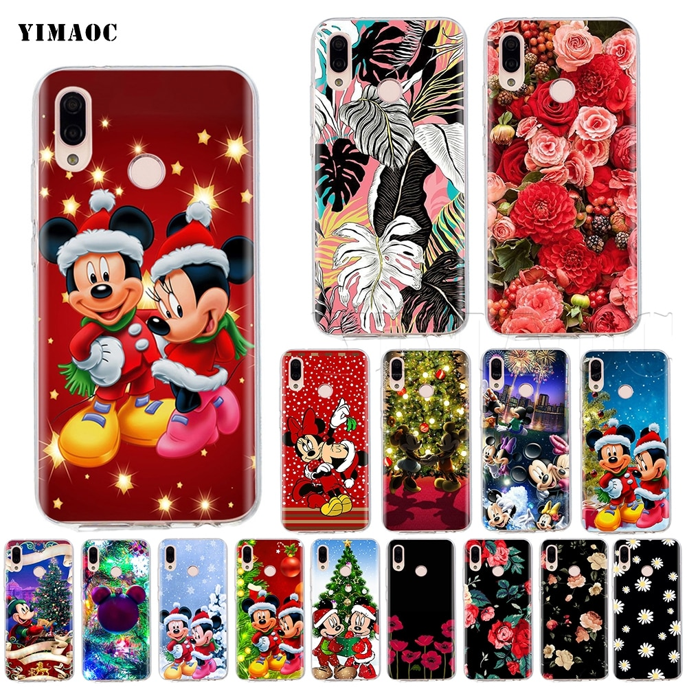 YIMAOC Christmas Mickey Minnie Case for Huawei P8 P9 P10 P20 P30 P Smart Lite Pro Mate 10 Y6 Prime 2018