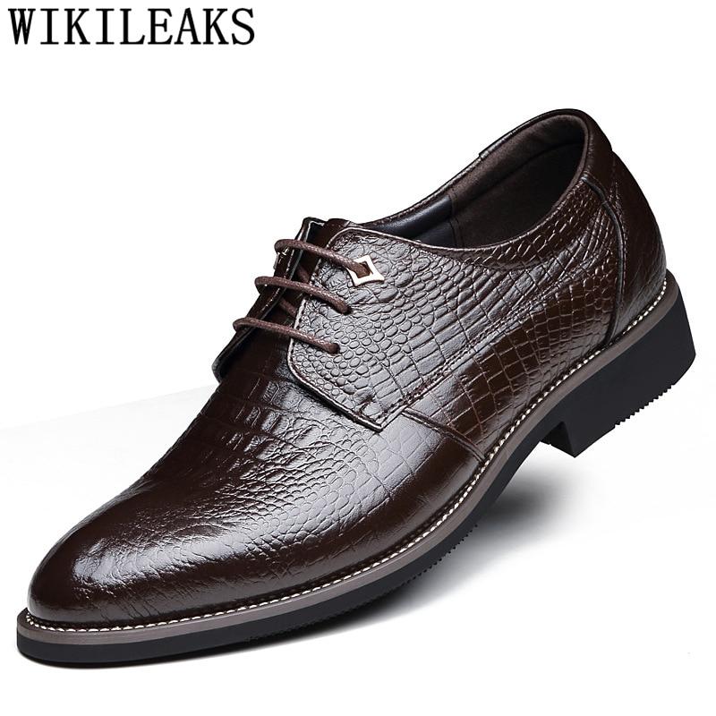 Zapatos De cocodrilo Zapatos De diseño para Hombre Zapatos De Vestir De...