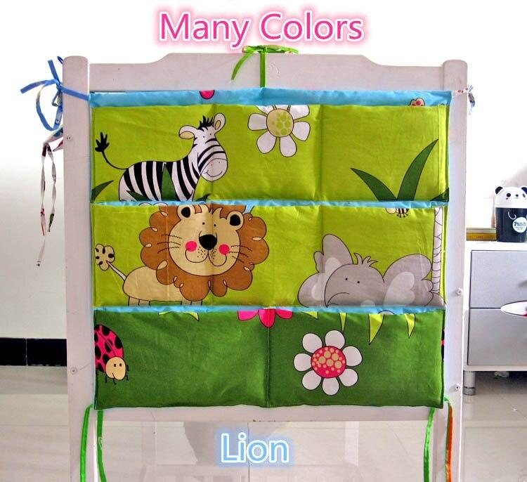 Juego de cama para bebé de dibujos animados de 62x52cm, cuna para bebé, bolsas colgantes de almacenamiento para bebés, bolsa de elefante, bolsa de almacenamiento