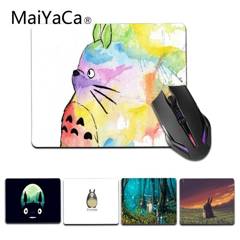MaiYaCa Vintage Colorido Fresco Totoro Personalizado Gaming laptop pequeno rato Tamanho pad para 18x22 cm 25x29 cm Pequeno Mousepad