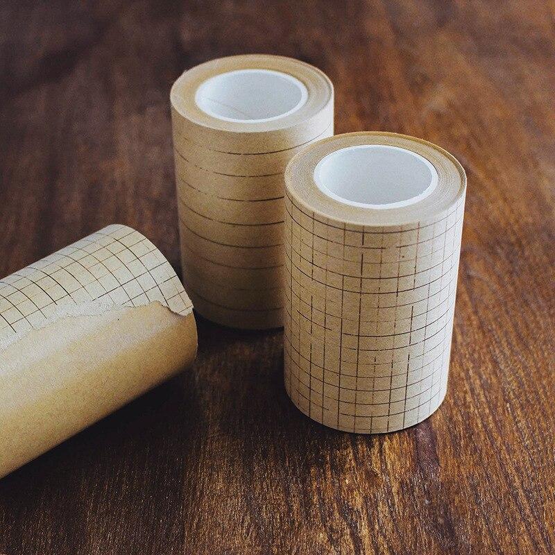 70 мм широкая винтажная линия крафт-бумаги/сетка/квадратная лента для декорации Washi DIY Дневник Скрапбукинг Маскировочная лента с выпуском бумаги