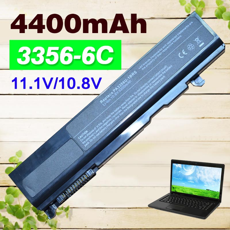 4400mAh A50 A55 بطارية كمبيوتر محمول PA3356U-1BAS PA3356U-1BRS PA3356U-3BAS PA3587U-1BRS لتوشيبا S300 S300M U200 U205